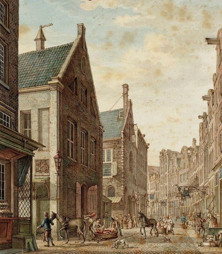 H.P. Schouten, Tekening van De Nes, 1774. Beeld