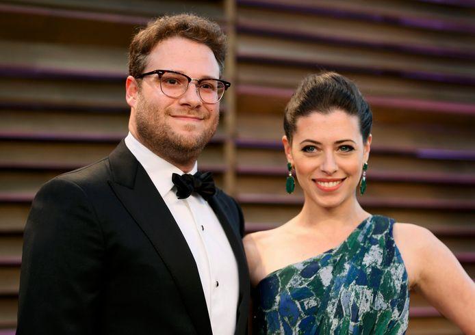 Seth Rogen et sa femme Lauren Miller.
