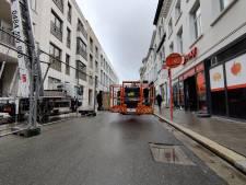 Kapotte bouwkraan blokkeert Vleminckveld twee uur lang