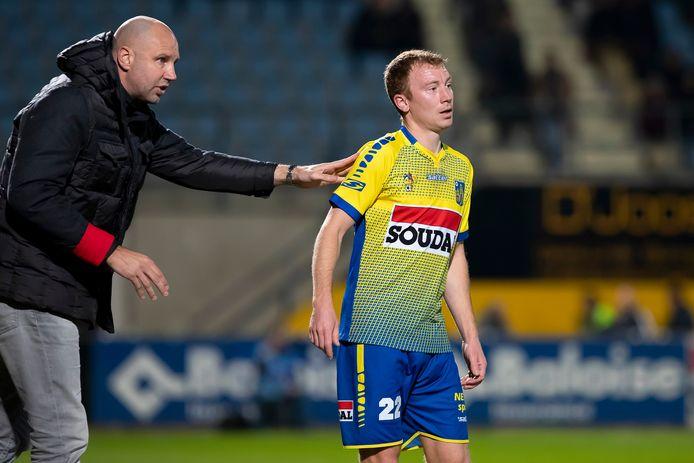 Christian Brüls met Westerlo-trainer Bob Peeters.
