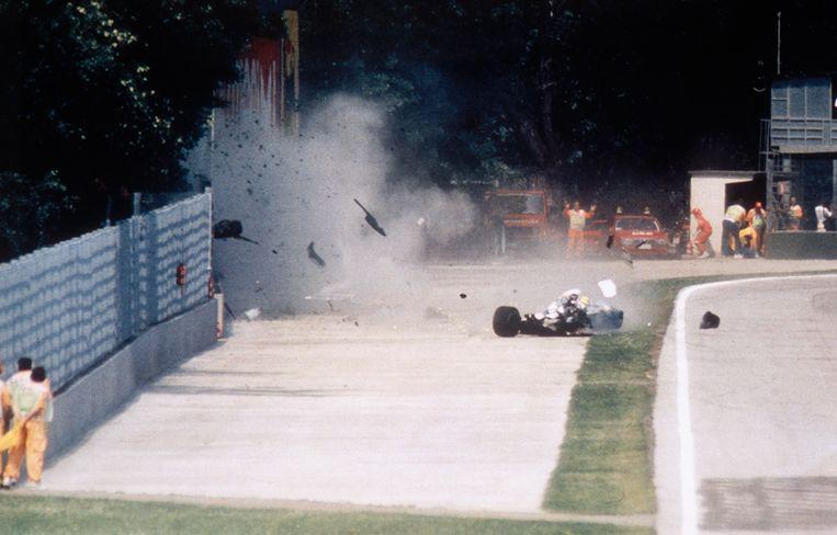 De crash van Ayrton Senna in Imola veranderde veel in de F1. Beeld Sygma via Getty Images