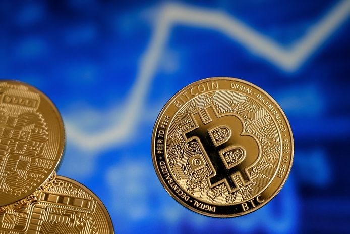 Bitcoin is niet een fysieke munt, maar anders zou hij er ongeveer zo uitzien.