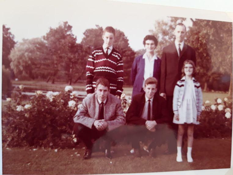 Het gezin de Reus in Noordwijkerhout in 1964. Beeld Privécollectie