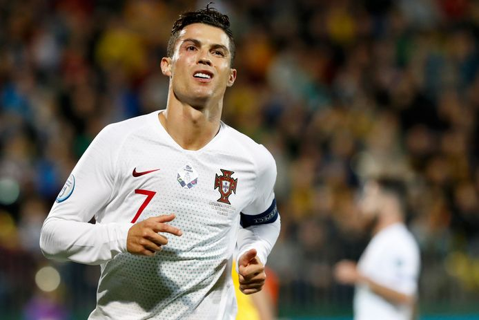 Ronaldo gisteravond na zijn vierde in Vilnius.