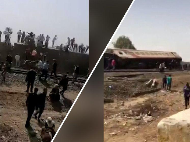 Honderd mensen gewond bij treinongeluk Egypte