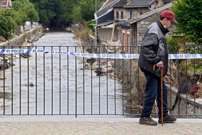 Beeld ter illustratie. De ravage na de hevige overstromingen in Theux in de provincie Luik.