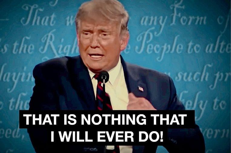 'Ik twijfelde eerst of Donald Trump wel echt besmet was. We kunnen werkelijk níéts voor waar aannemen als het van het Witte Huis afkomstig is. Daarvoor hebben ze al te veel en te schaamteloos gelogen.' Beeld