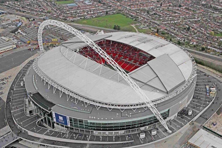 Een luchtbeeld van Wembley, dat in 2007 de deuren heropende. Beeld REUTERS