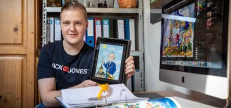 Wordt cartoonist Leroy (21) uit Oldenzaal dé nieuwe striptekenaar van Donald Duck?