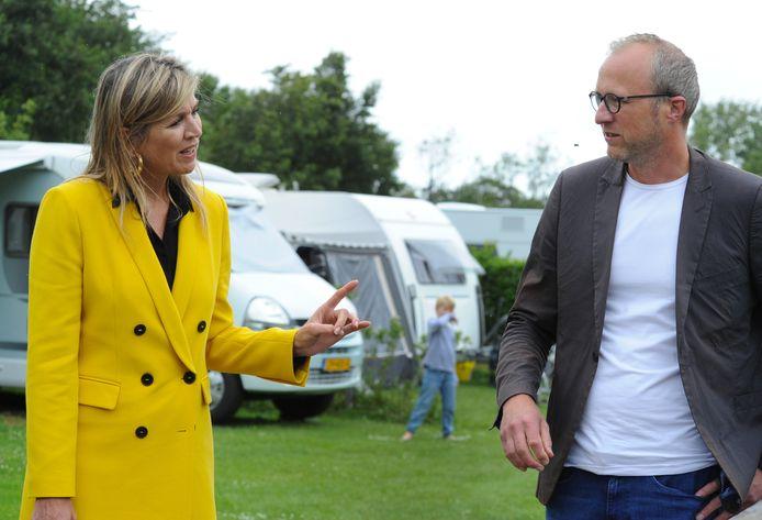 Koningin Maxima op bezocht vandaag onverwacht camping Ons Buiten in Oostkapelle.