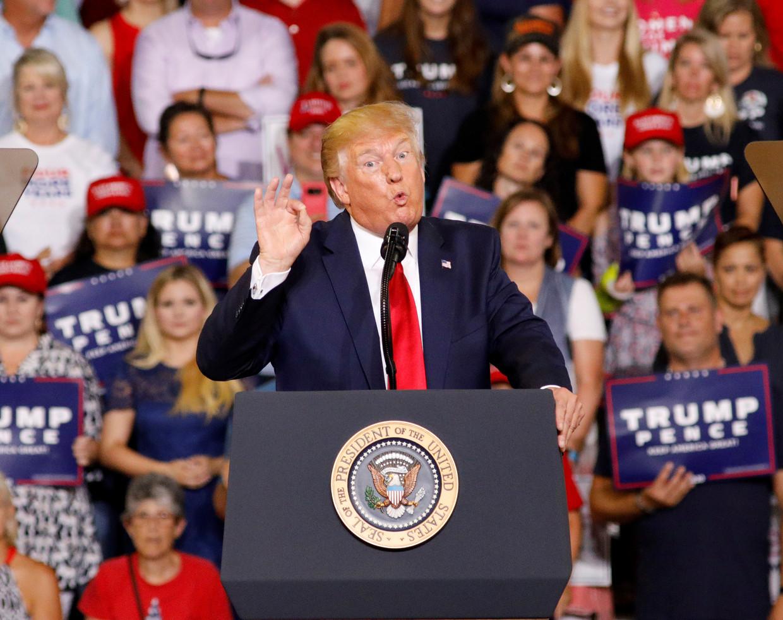 De 'Keep America Great'-rally in Greenville, North Carolina Beeld REUTERS