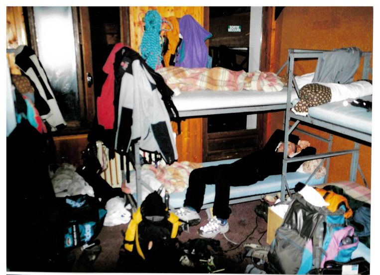 Hostel in Zuid-Frankrijk, voorafgaand aan de ijsklim.  Beeld Privécollectie