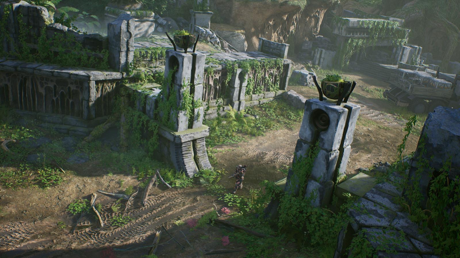 De omgeving van de game verandert bij momenten.