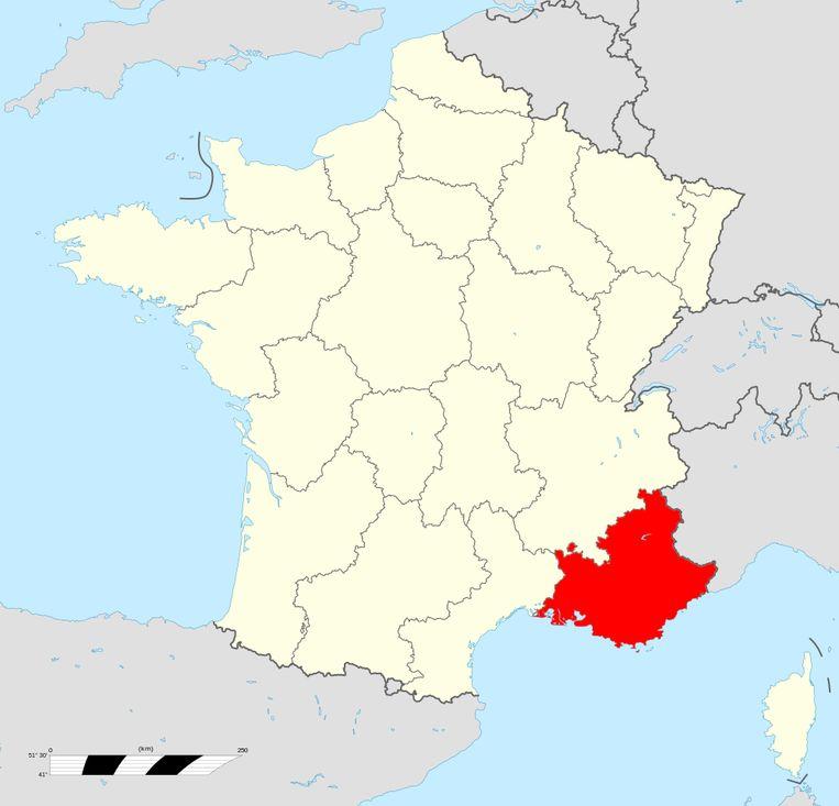 De regio Provence-Alpes-Côte-d'Azur. Beeld Creative Commons 4.0