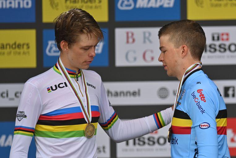 Winnaar Price-Pejtersen en Florian Vermeersch. Beeld BELGA