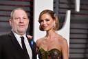 Harvey Weinstein en Georgina Chapman in 2017.
