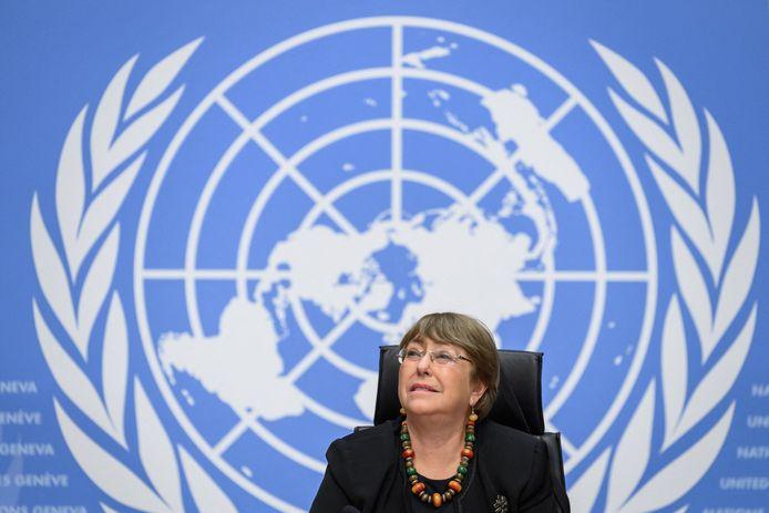 Michelle Bachelet, de hoge VN-commissaris voor de Mensenrechten.