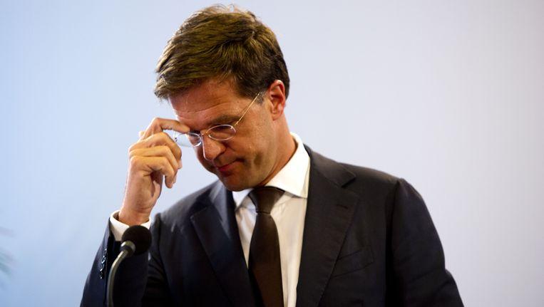 Premier Rutte vandaag Beeld ANP