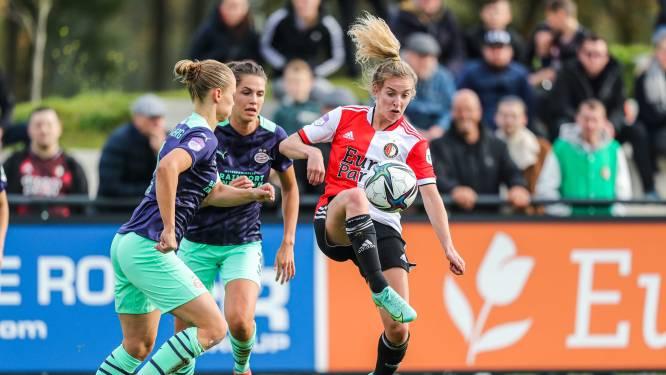 Voetbalsters Feyenoord kloppen na Ajax ook PSV en rukken op