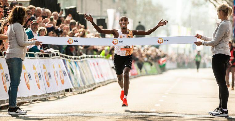 Abdi Nageeye loopt een nieuw Nederlands record. Beeld Jiri Büller