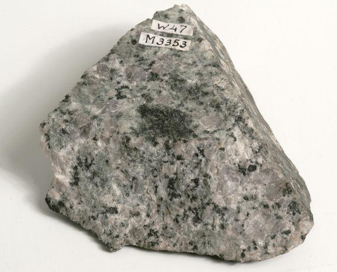 Het topje van de Mont Blanc dat bewaard wordt in Teylers Museum.