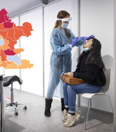 KAART | Technische storing bij GGD zorgt voor lage besmettingscijfers, ook in Oost-Nederland