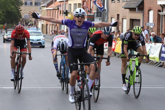 De finish twee jaar geleden. Winnaar werd de Brit Leo Haytet.