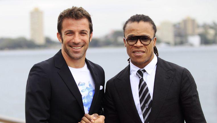 Edgar Davids (rechts) met Alessandro Del Piero.