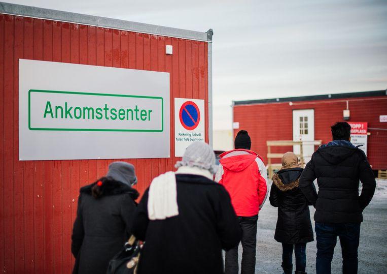 Een asielzoekerscentrum in Kirkenes in het noorden van Noorwegen. Beeld AFP