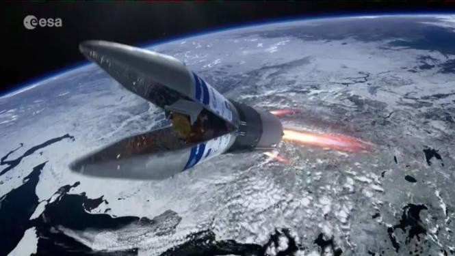Satelliet naar ruimte met Belgische toets