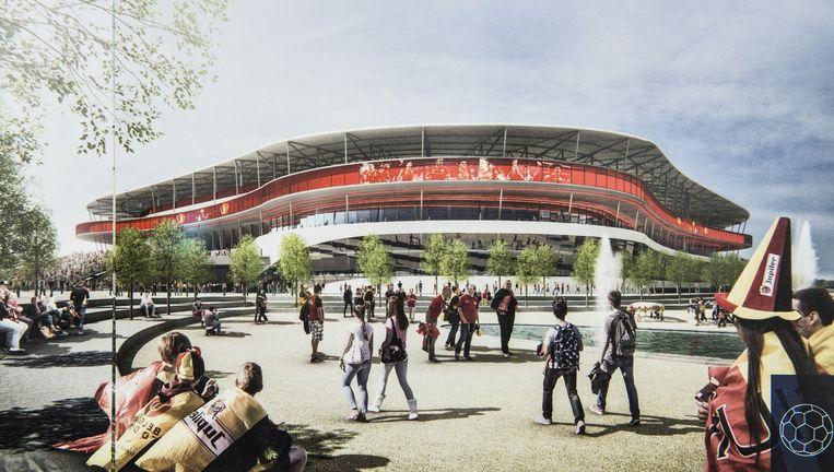 Conceptbeeld van het nieuw te bouwen Eurostadion. Beeld rv