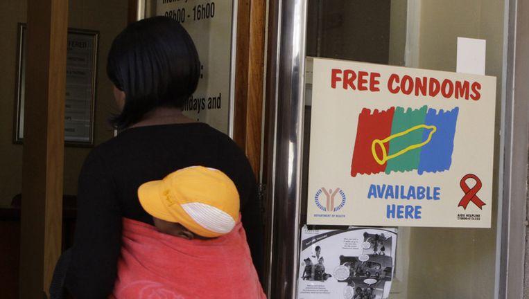 Een aidskliniek in Johannesburg. Beeld ap