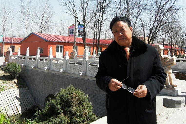 Sun Dawu in 2010 in zijn woonplaats Baoding in de Noord-Chinese provincie Hebei. Landbouwmiljardair Sun steunde mensenrechtenstrijders en nam geen blad voor de mond in het publieke debat.  Beeld AP