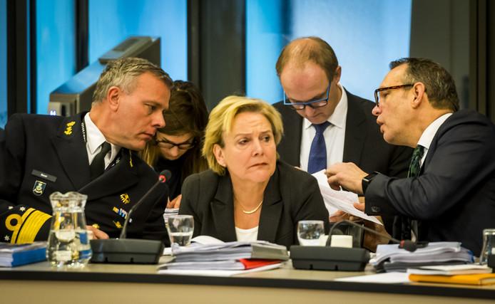 Minister Ank Bijleveld(Defensie) tijdens een debat over de verlenging van de Nederlandse bijdrage aan de VN-missie Minusma in Mali.