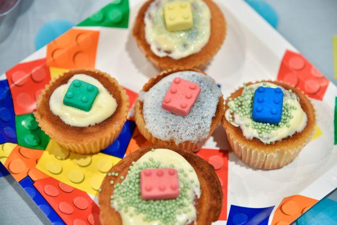 Tot zelfs Cupcakes waren voorzien van (eetbare) Lego-blokjes.