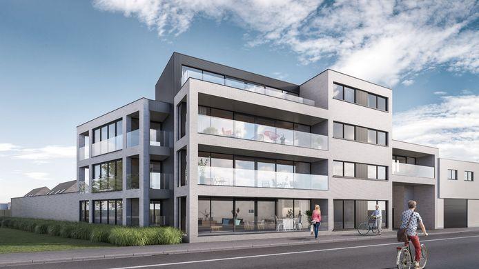 Een project van Art of Building in aanbouw langs de Switch Road in Poperinge.