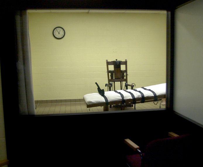 De executiekamer van de gevangenis van Lucasville (Ohio).