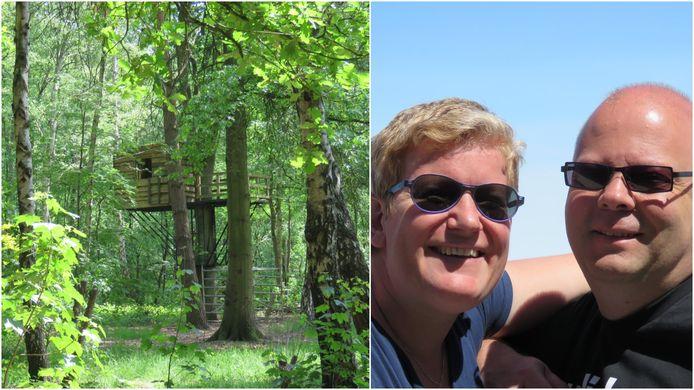"""Het bos dat Els en Johan ter beschikking stellen is 7500 vierkante meter: """"Op de wei is plaats voor zo'n 40 leden"""""""