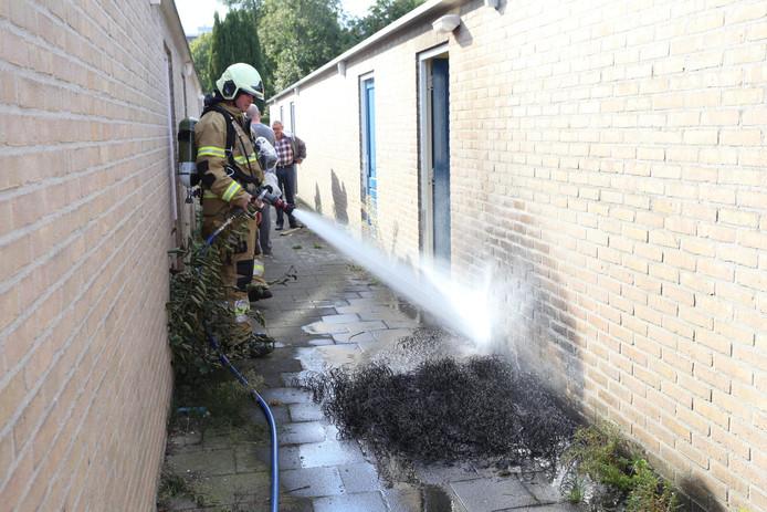 Brandend matras geblust in Boxtel.