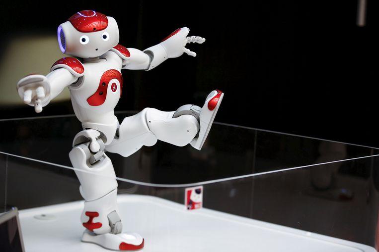 De robot Nao, gemaakt door het bedrijf SoftBank Robotics, hier in een andere setting.  Beeld Reuters