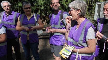 Vrijwilligers Hallerbos in de bloemetjes gezet