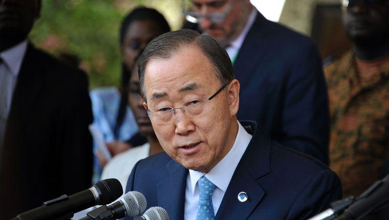 Secretaris-generaal van de VN Ban Ki-moon Beeld afp
