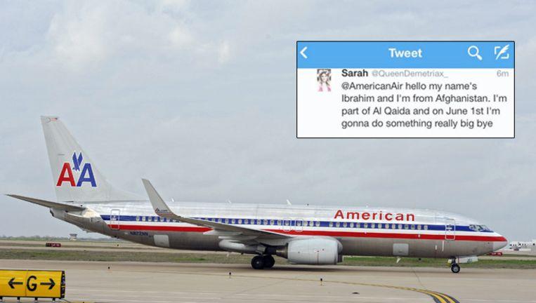 De tweet van Sarah (inzet) had grote gevolgen. Beeld ANP/screenshot Twitter