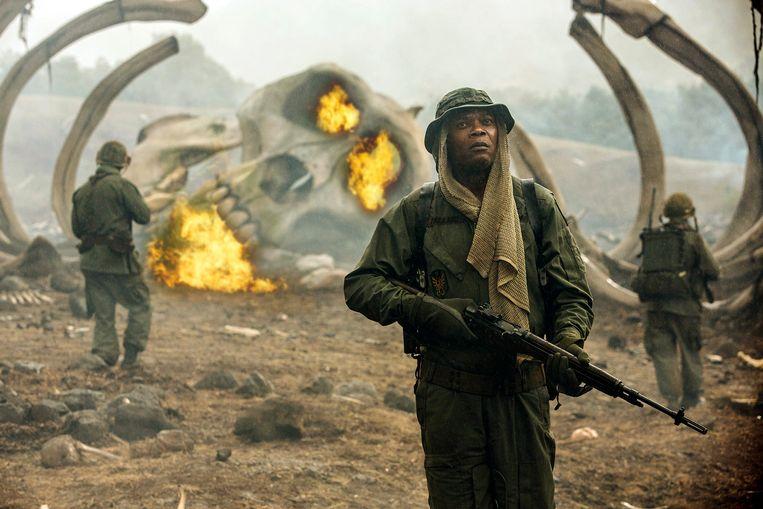 Samuel L. Jackson in 'Kong: Skull Island'. Beeld AP