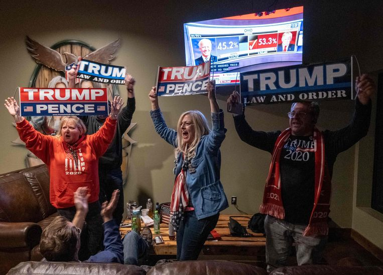 Trumpsupporters in Ohio. Beeld AFP