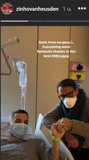 Vanheusden na zijn operatie.