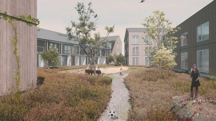 Gevel van het ontwerp voor CPO meer&deel op Vredeoord in Eindhoven.