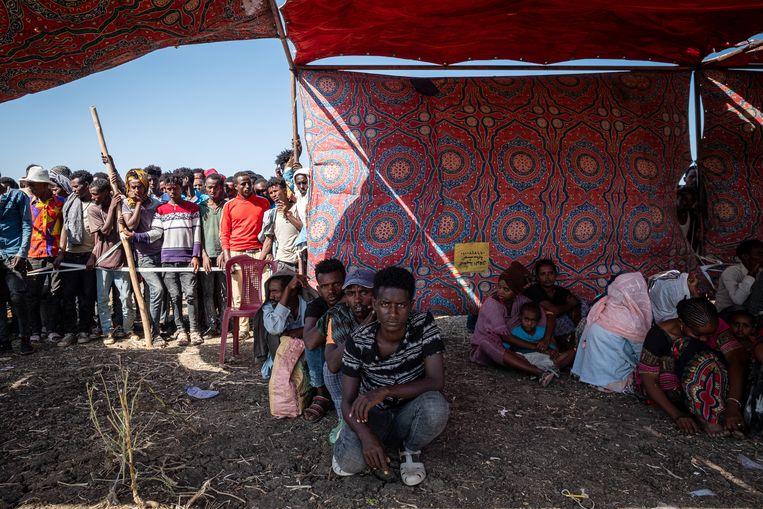 Het conflict in het noorden van Ethiopië is nog geen drie weken oud, maar heeft nu al ruim 35.000 mensen naar Soedan gedreven. Beeld Joost Bastmeijer