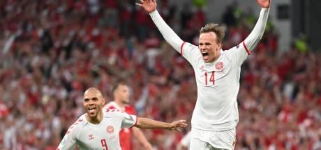 Explosie van emoties in Kopenhagen: 'Deze is voor jou, Christian Eriksen!'