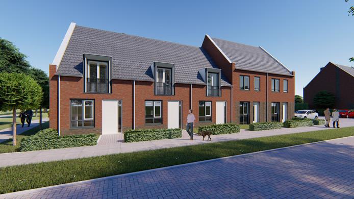 Een impressie van de nieuwe woningen in Lierop
